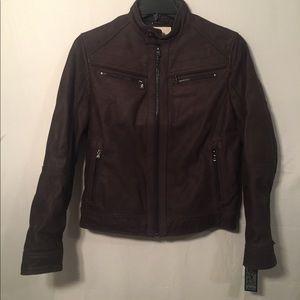 Micheal Kors Washed Nubuck Leather Jacket